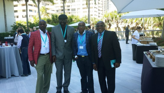 Photo shows Nigerian delegates at the Global PR Summit 2014, held recently in Miami, Florida USA. L-R: Israel Opayemi, MD, Chain Reactions; Wole Olaoye, MD, Diametrics; Yomi Badejo-Okusanya, MD, CMC-Connect and John E. Ehiguese, CEO, Mediacraft Associates.